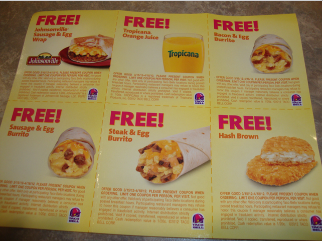 Going To Taco Bell See If Your Restaurant Has This Flyer
