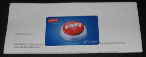 GONE! Saveology Daily Deals Site! $15.00 Staples Gift Card Only $7.00 for New Members! Mine Came Today!