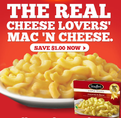 image relating to Stouffer Coupons Printable identified as $1.00/3 Stouffers Macaroni Cheese Solitary-Provide Solutions