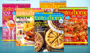 Calling All Cooks! Taste of Home Magazine Only $9.00 for TWO Years!