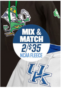 NCAA Fleece Hoodies 2/$35.00 Plus Free Shipping! Regular Price $40 Each!!