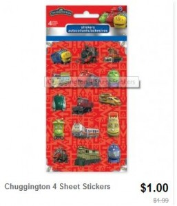 Chugginton stickers Totsy