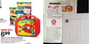 Did You Get the $3.00 Crayola Coupon we Posted Yesterday? Possible Free Art Supplies at Target!
