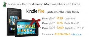 Exclusive Savings for Amazon Moms & Amazon Prime Members!! Save up to $50 on selective Kindle Fires!!