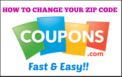 coupon zip code change