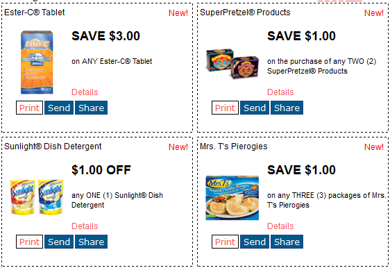 New RedPlum Printable Coupons  Ester C SuperPretzel Sunlight   Mrs 0IzLxaha