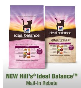 Hill's Ideal Balance Dog or Cat Food Rebate!