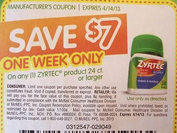 photo regarding Printable Zyrtec Coupon identify Zyrtec d coupon $7 - Engage in asia coupon 2018