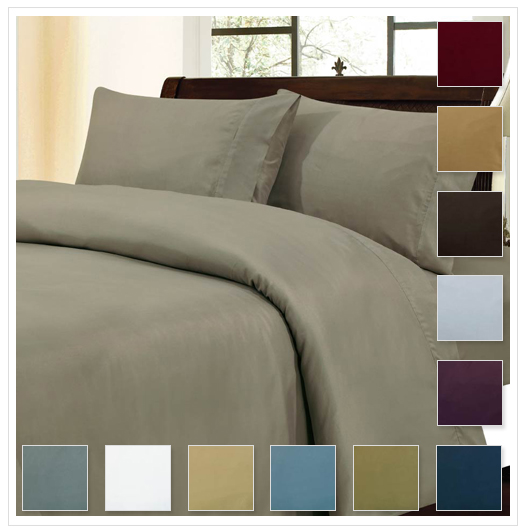 Marvelous Luxury Collection Solid Sheet Set in Queen or King u Premier Quality Bedding Color Options for Only FREE Shipping