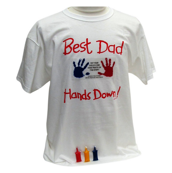 Think father s day best dad t shirt custom made keepsake for Custom t shirts one day delivery