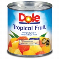 New Catalina Offer! Select Stores50¢ in future savings, 3+ DOLE® Canned Tropical Fruit