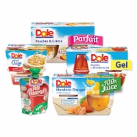 New Catalina Offer! Select Stores75¢ DOLE Fruit Bowls®, Gels, Parfaits, Crisps or Squish'ems