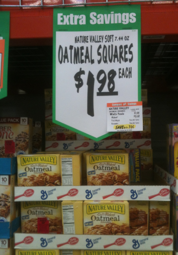 photo regarding Nature Valley Printable Coupons titled Character Valley Delicate Baked Oatmeal Squares Merely $1.23 at Winco