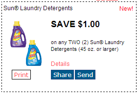 photograph regarding All Laundry Detergent Printable Coupons referred to as Wow! Scarce Sunlight Laundry Detergent Printable Coupon! Purchase This Prompt!