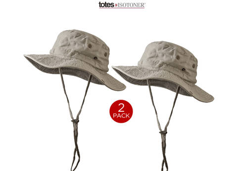 2 pack khaki boonie outback outdoors sunhat by totes for Fishing hats walmart