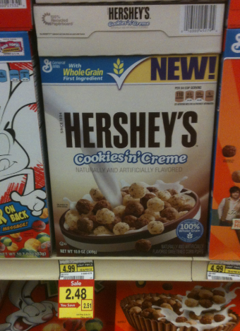 Hershey's Cookies 'n' Creme Cereal Only $.98 at Albertsons ... Hershey Cookies And Cream Cereal