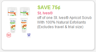 $1 St Ives Coupon St. Ives Apricot Facial Scrub Only $1.29 at Target!