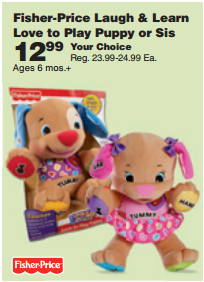 Gone Wow Fisher Price Laugh Learn Love To Play Puppy Or Sis Only