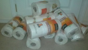 Storage Solution for all those FREE PAPER TOWELS!