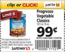 Westpac classic vegetables coupon