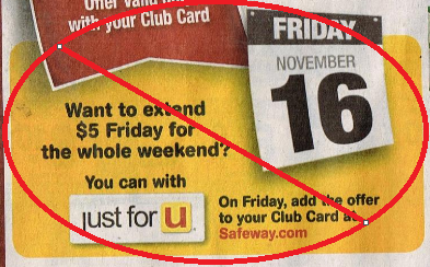 NO MORE EXTENDED $5 FRIDAY