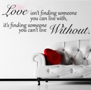 Love Without Quote Wall Sticker Decal Hanging Mural Self Adhesive - How do you put a wall sticker up