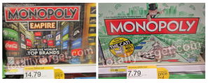 Target: Monopoly Games as low as $4.79
