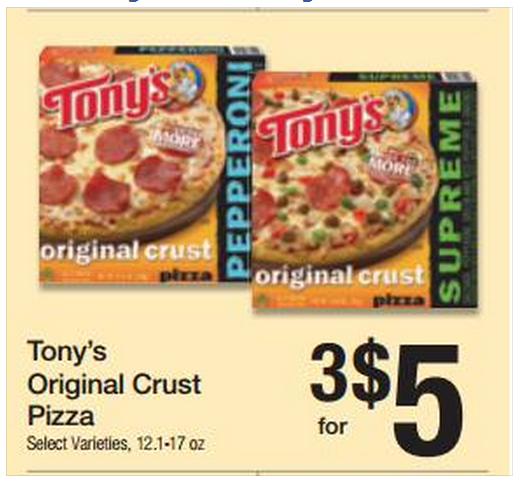 Tony's pizza raleigh coupon