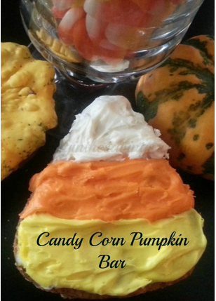 candy corn pumpkin bars