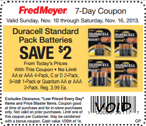 graphic regarding Duracell Coupons Printable named Duracell Batteries Merely $1.49 at Fred Meyer!