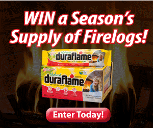 Win a Year's Supply of Duraflame Firelogs! Heat Your Home for Free This Year!