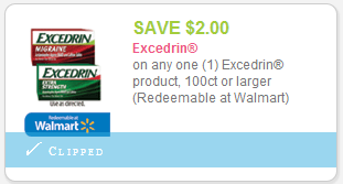 High value 2 1 excedrin product 100ct or larger for Coupons for factory direct craft