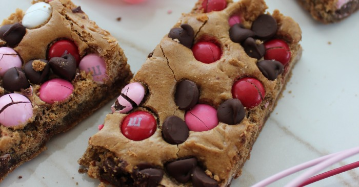 Valentines Day Blonde Brownies