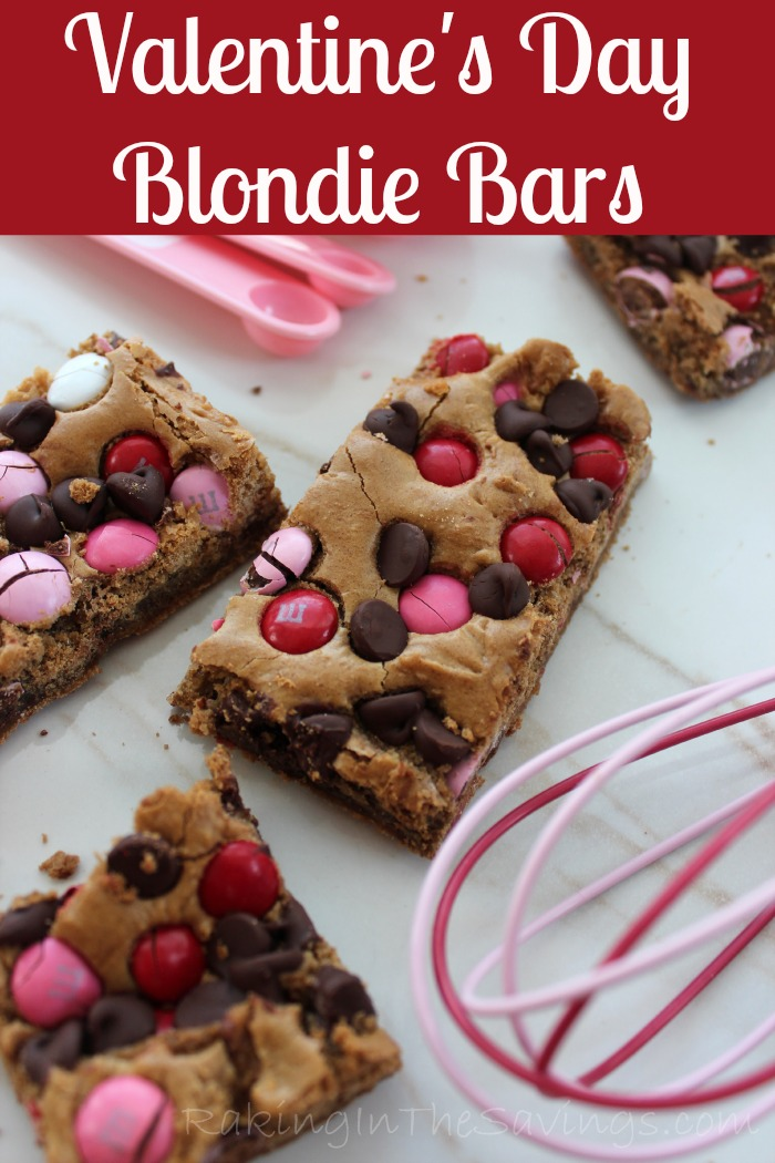 Valentines Day Blondie Bars