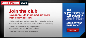 Save $5 off Craftsman Tools + Other Exclusive Tool Offers!