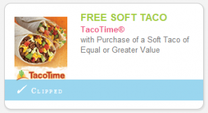 North Idaho/Eastern Washington Readers: BOGO Soft Tacos at Taco Time With Printable Coupon!