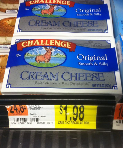 walmart cream cheese