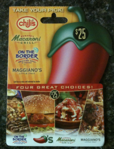 New Giveaway! Win a $25 Gift Card for Chili's Romano's Macaroni Grill, On The Border or Maggiano's!
