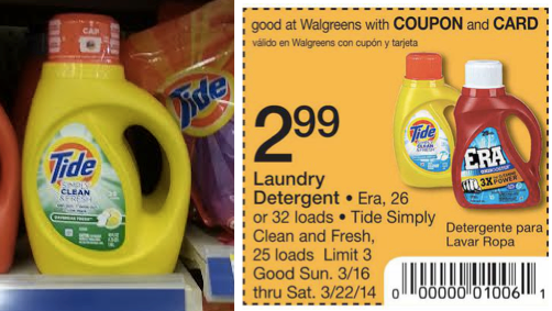 image about Tide Simply Clean Printable Coupons titled Tide Basically New and Refreshing Just $2.24 With Printable Coupon!
