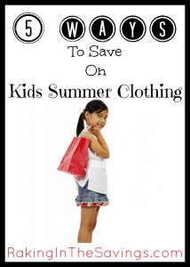 5 Ways To Save On Kids Summer Clothing