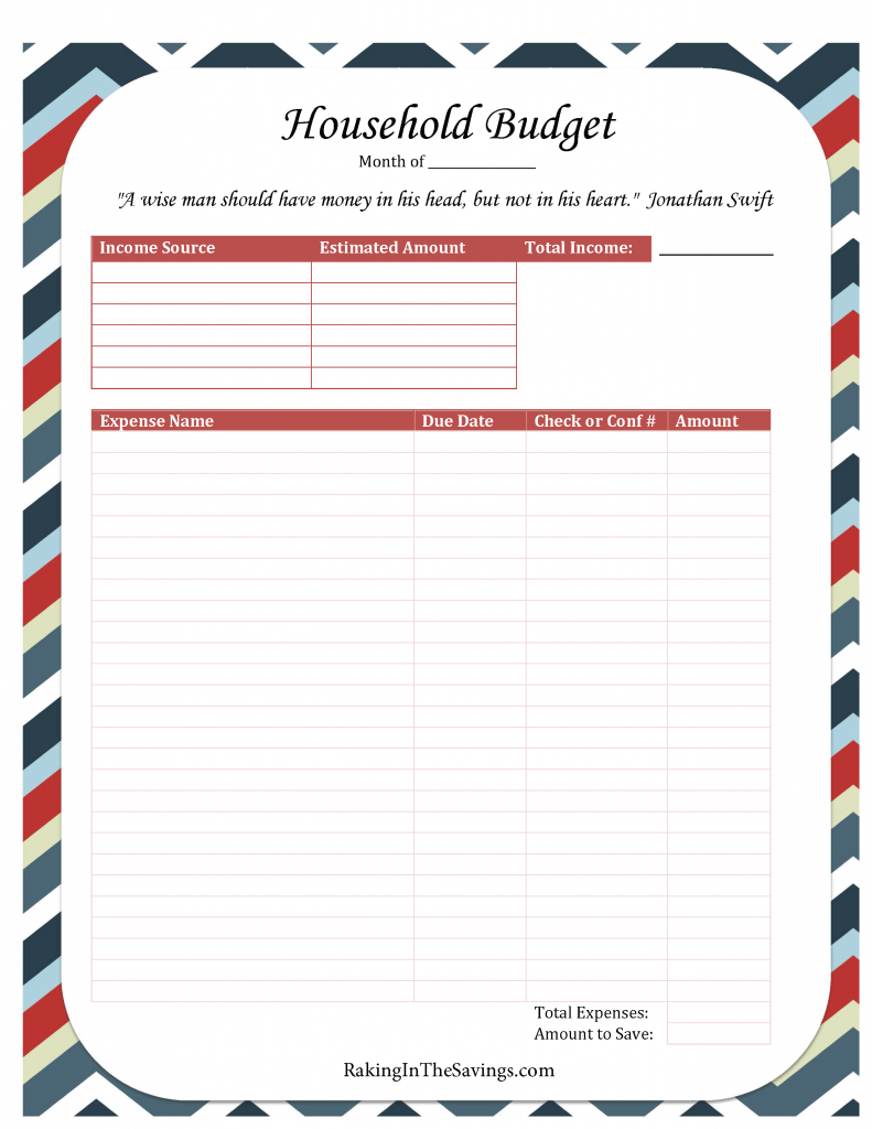 Printable Budget Worksheet – Printable Budget Worksheet