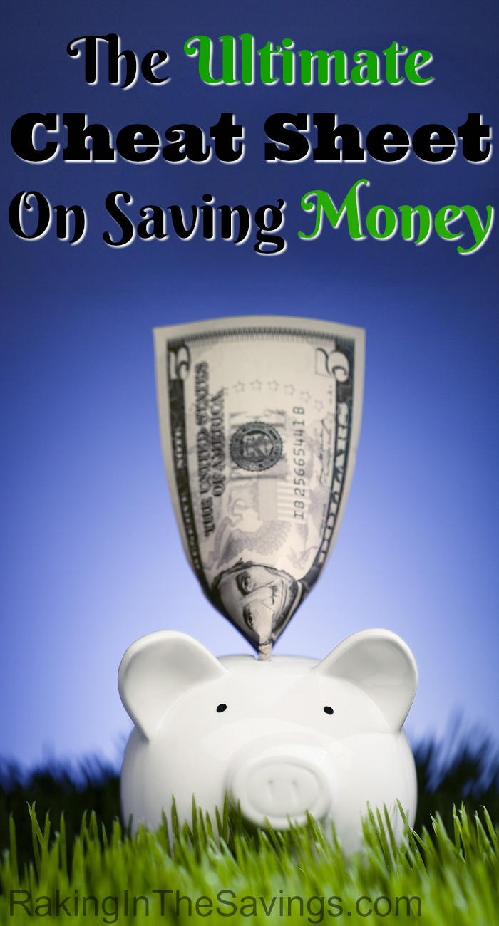 If you are living paycheck to paycheck and want to learn how to start saving money, check out this Ultimate Cheat Sheet On Saving Money!