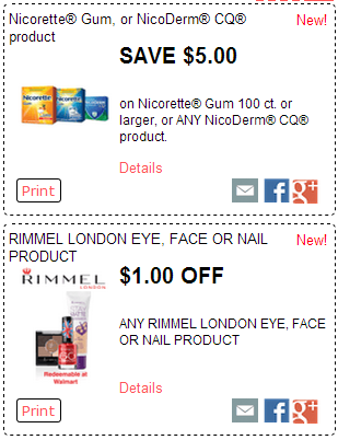 image about Printable Nicoderm Coupons named Clean RedPlum Printable Discount codes! McCormick Rimmel, Nicorette