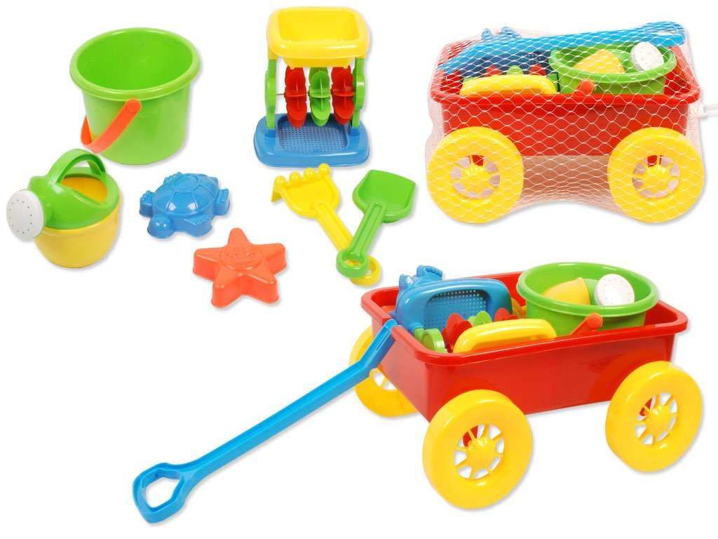 Summer Fun For The Little Ones 8 Piece Red Wagon Beach