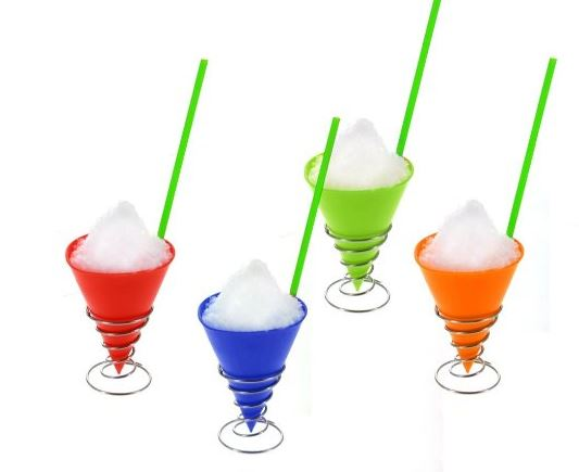 Snow Cone Holder Kit 4 Reusable Snow Cone Cups 200