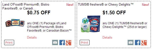 photo relating to Tums Coupon Printable known as Fresh RedPlum Printable Discount codes! Tums, Land OFrost, Angel