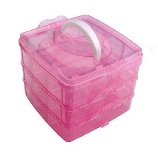 3 Layer Portable Plastic Storage Boxes Only 699 Great for makeup