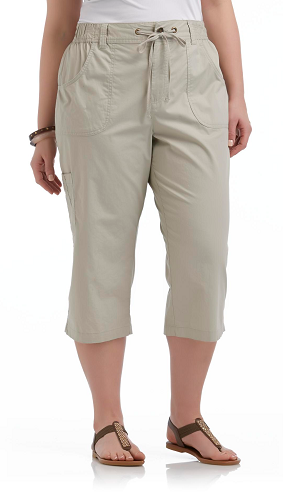 Basic Editions Women's Plus Cargo Capris Only $11.19 (Reg $19.99)