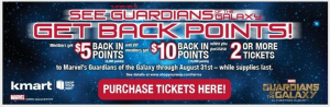 Get $5 in Points When You Buy Guardians of the Galaxy Tickets From Shop Your Way!