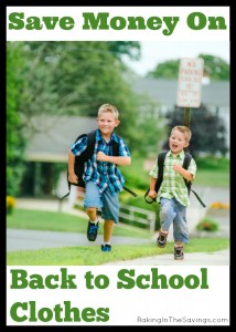 Ways to Save on Back to School Clothes